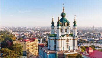 Андреевская церковь с воздуха