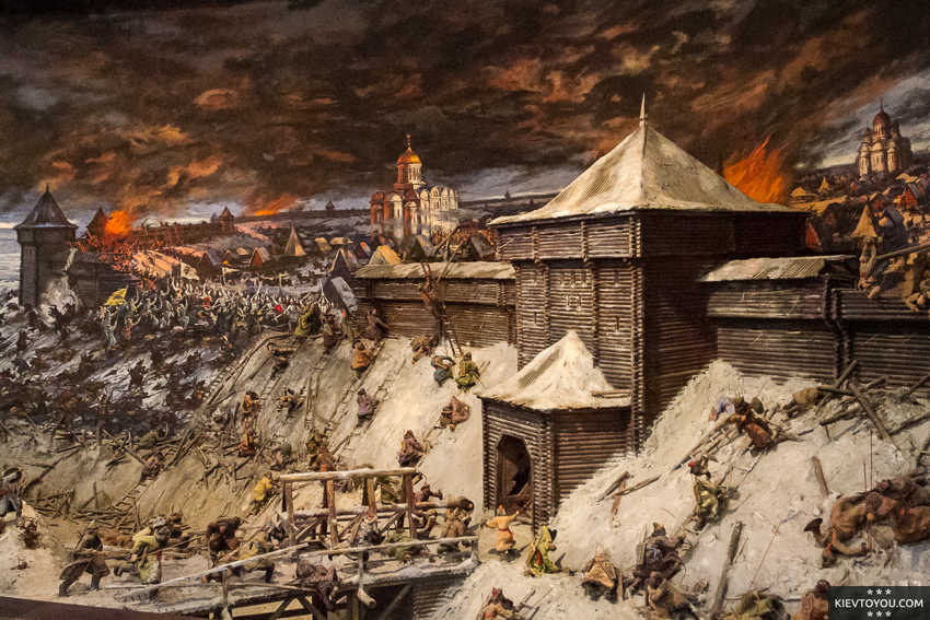 Нападение войск хана Батыя на Киев
