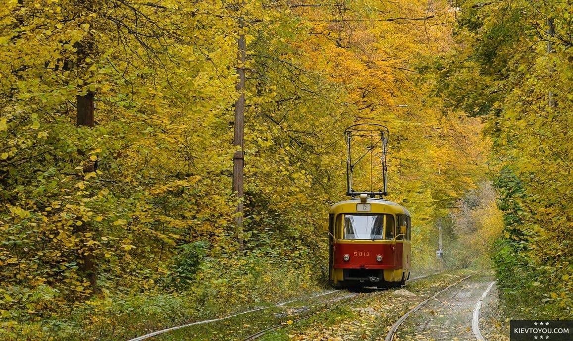 Пуща-Водица в Киеве: трамвайный маршрут
