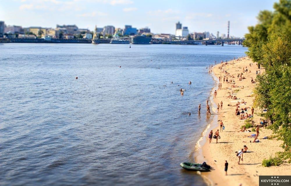 Список лучших пляжей Киева где можно купаться