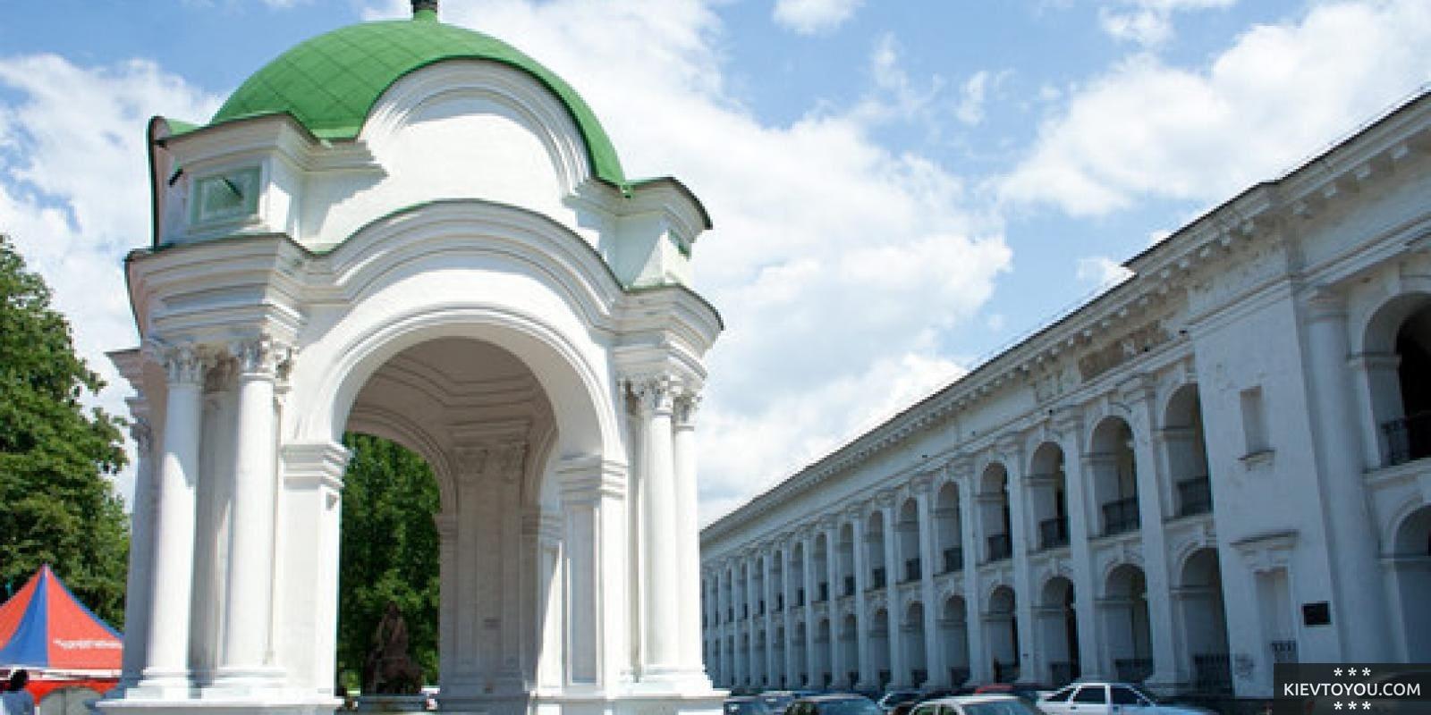 Фотография фонтана Самсон в Киеве