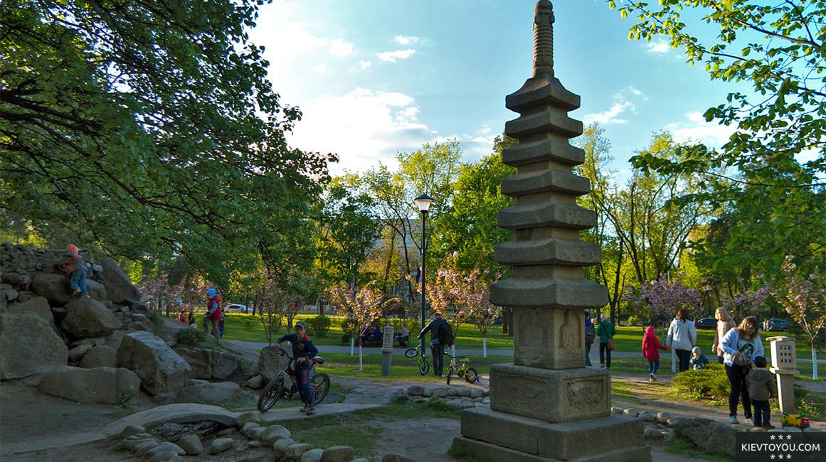 Парк Киото в Киеве оформлен в японском стиле
